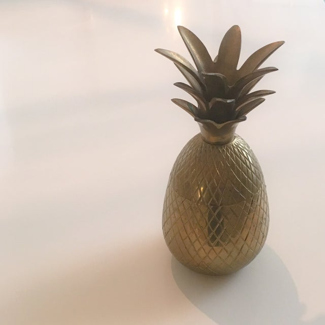 "7"" Brass Pineapple Container - Image 2 of 9"