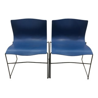 Authentic Knoll Handkerchief Chairs Blue - Pair