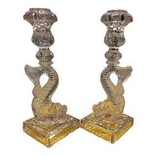 Koi Fish Candlestick Holders - A Pair