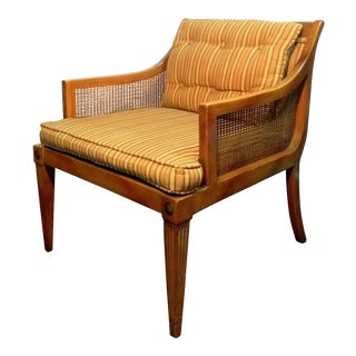 Mid Century American Martinsville Cane Sided Lounge Chair