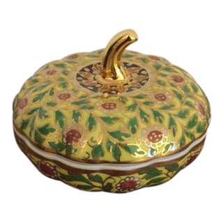 Porcelain Pumpkin Lidded Trinket Box
