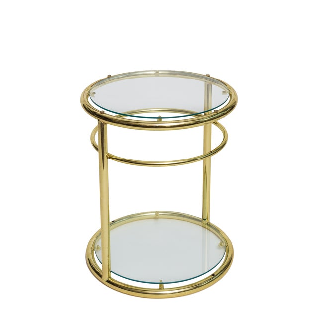 Regency Gold Round Side Tables - A Pair - Image 2 of 2