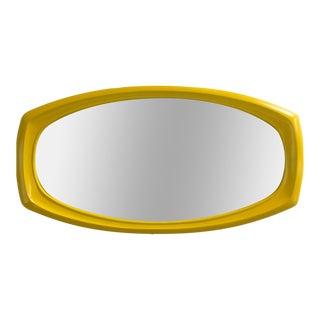 Mod Mid-Century Chrome Yellow Mod Mirror