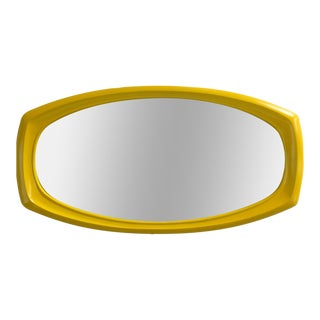 Mid-Century Modern Chrome Yellow Mod Mirror