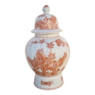Italian Ceramic Rust Urn