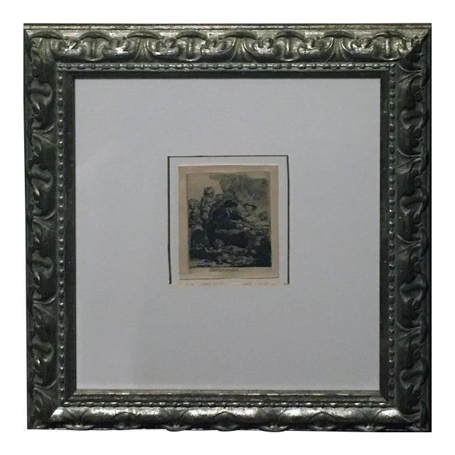 "Rembrandt ""The Pancake Woman"" Original Etching - Image 1 of 9"