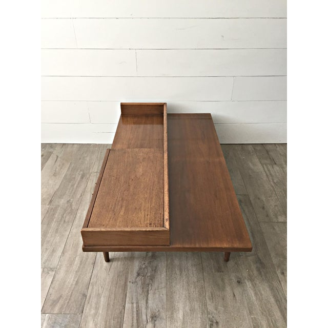 Merton L. Gershun for American of Martinsville Mid-Century Modern Coffee Table Bench - Image 7 of 9