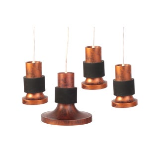 Patinated Copper & Metal Pendant Lights by Lightolier