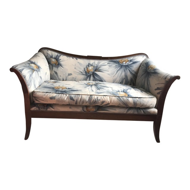 Traditional Settees with Floral Upholstery - A Pair - Image 10 of 10