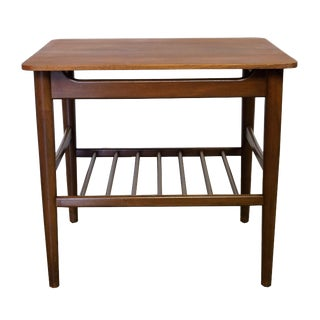 Danish Teak & Walnut Side Table
