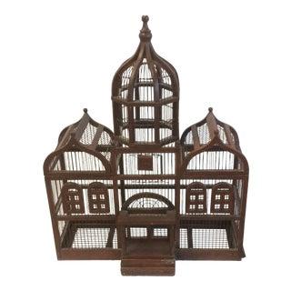Vintage Victorian Wooden Birdcage