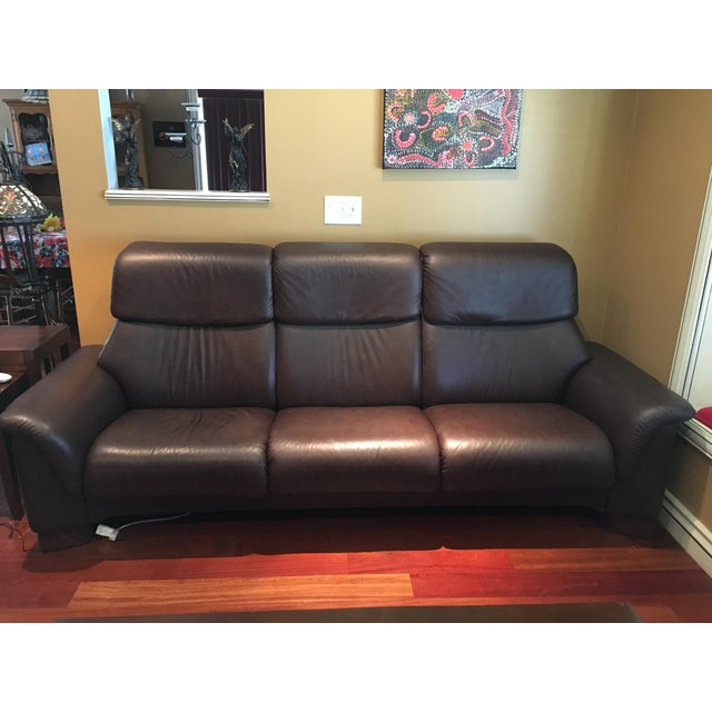 Leather Sofas For Sale In Northern Ireland: Ekornes Stressless Paradise High Back Leather Sofa