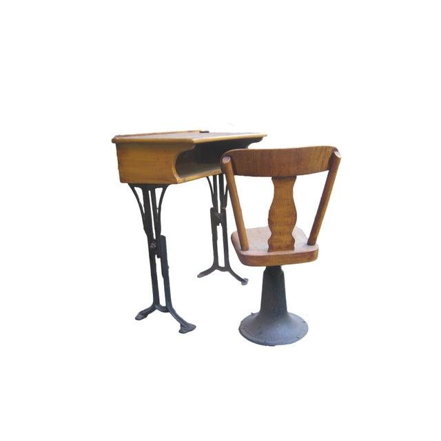 Antique Chandler Adjustable School Desk - Image 3 of 5