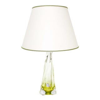 Val St. Lambert Yellow Table Lamp