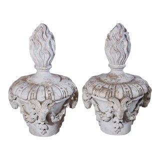 Early 20th Century French Composite Finials - Pair