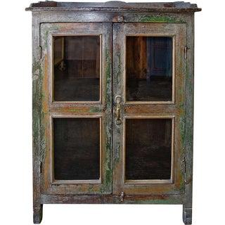 Sage Glass Door Cabinet
