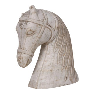Stone Carved Horse Bust