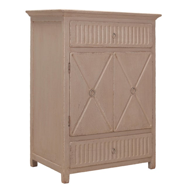 Sarreid LTD Matte Gray Badia Cupboard - Image 4 of 6