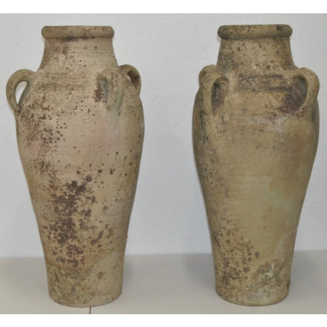 Image of Country French Stoneware Olive Jugs C.1880's