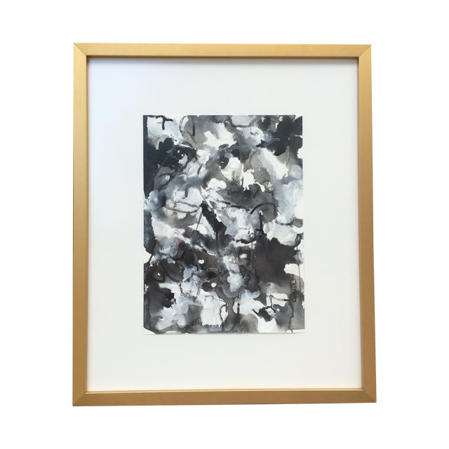 """Image of Contemporary Mixed Media """"Blot II"""" Painting"""
