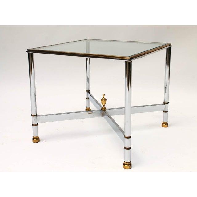 Petite Brass & Steel Side Table - Image 6 of 8