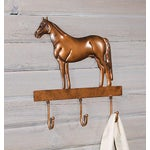 Image of Copper Horse Wall Mounted Coat Hooks