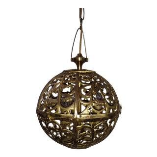 Brass Filigree Karakusa Lantern