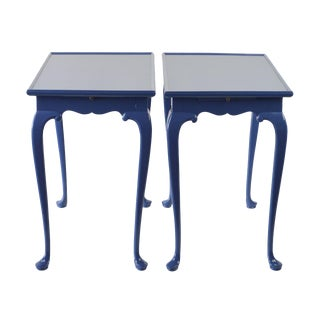 Traditional Tables in a Modern Blue