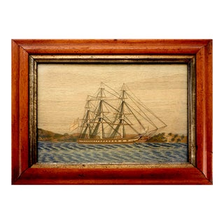 Sailor's Woolwork Picture, Circa 1865.