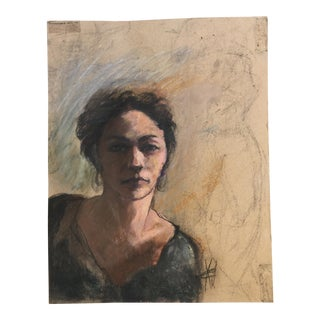 ' Female #2' French Pastel Portrait Drawing
