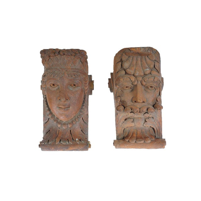 Terracotta Knights Heads - Set of 6 Corbels - Image 2 of 8