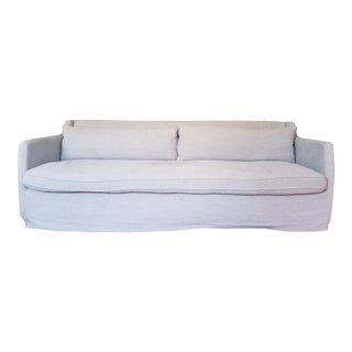 Four Hands Pewter Grey Linen Slipcover Sofa