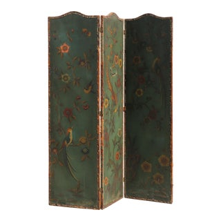 1900's Hand Painted French Room Divider