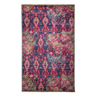 "Suzani Hand Knotted Area Rug - 5'0"" X 8'2"""