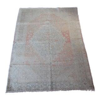 Turkish Silk & Cotton Carpet - 4′3″ × 6′