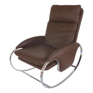 1970's Guido Faleschini Chrome Rocking Chair
