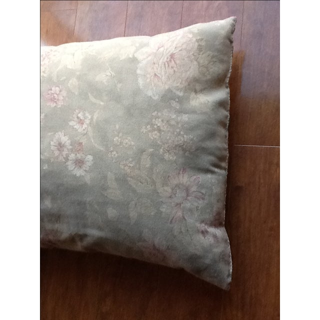 Large Silk Embroidered Pillow - Image 8 of 9