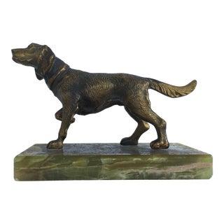 Bronze Dog On Stone Base