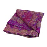 Image of Lavender Chakra Silk Kantha Throw