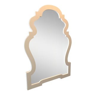Jonathan Adler Queen Anne Mirror in White Lacquer