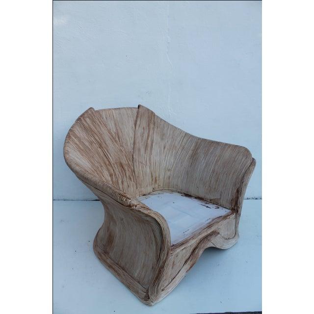Gabriella Crespi Style Pencil Bamboo Club Chair - Image 6 of 11