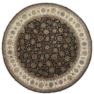 RugsinDallas Round Hand Knotted Wool Rug - 11′9″ × 12′