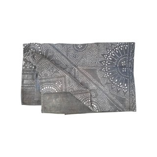 Rare Silver Batik Homespun Panel Throw