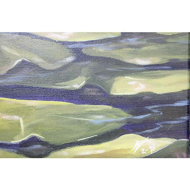 Dramatic Heron Portrait Painting - Image 3 of 6
