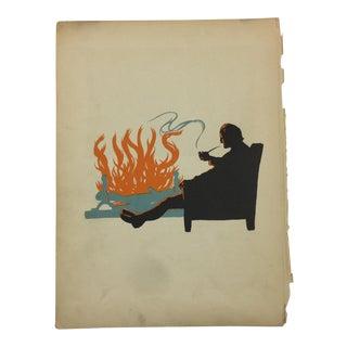1931 Robinson Crusoe Fireplace Print