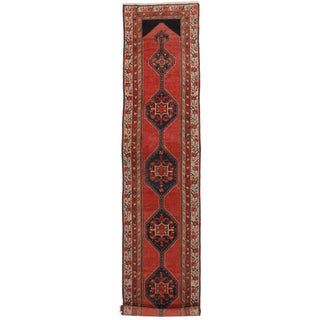 Antique Persian Malayer Runner - 3' X 16'5""