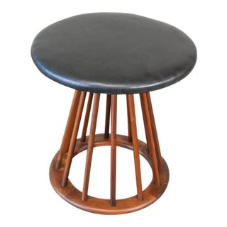 Walnut Spindle Stool by Arthur Umanoff
