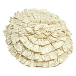 Image of Anne Gish Pillow with Ruffles in White