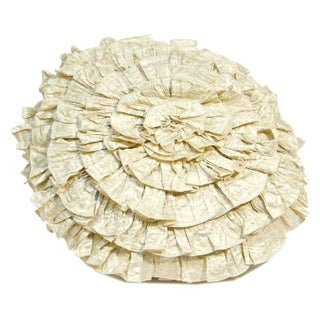 Anne Gish Pillow with Ruffles in White