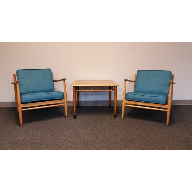 Baumritter Styled Mid-Century Lounge Chairs - Pair - Image 6 of 8